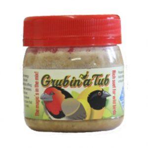 """Grub in a Tub. Our """"No-Mess"""" way of feeding birds"""