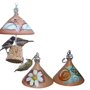 Terracotta Seed Bell holder with a small seed bell
